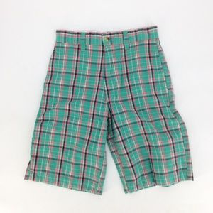 ❤️ First Wave Shorts Cotton Plaid Boys 10